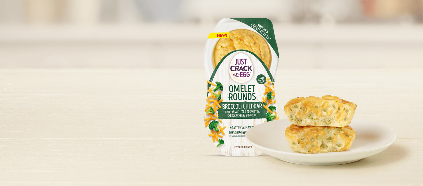 Broccoli Cheddar Omelet Rounds