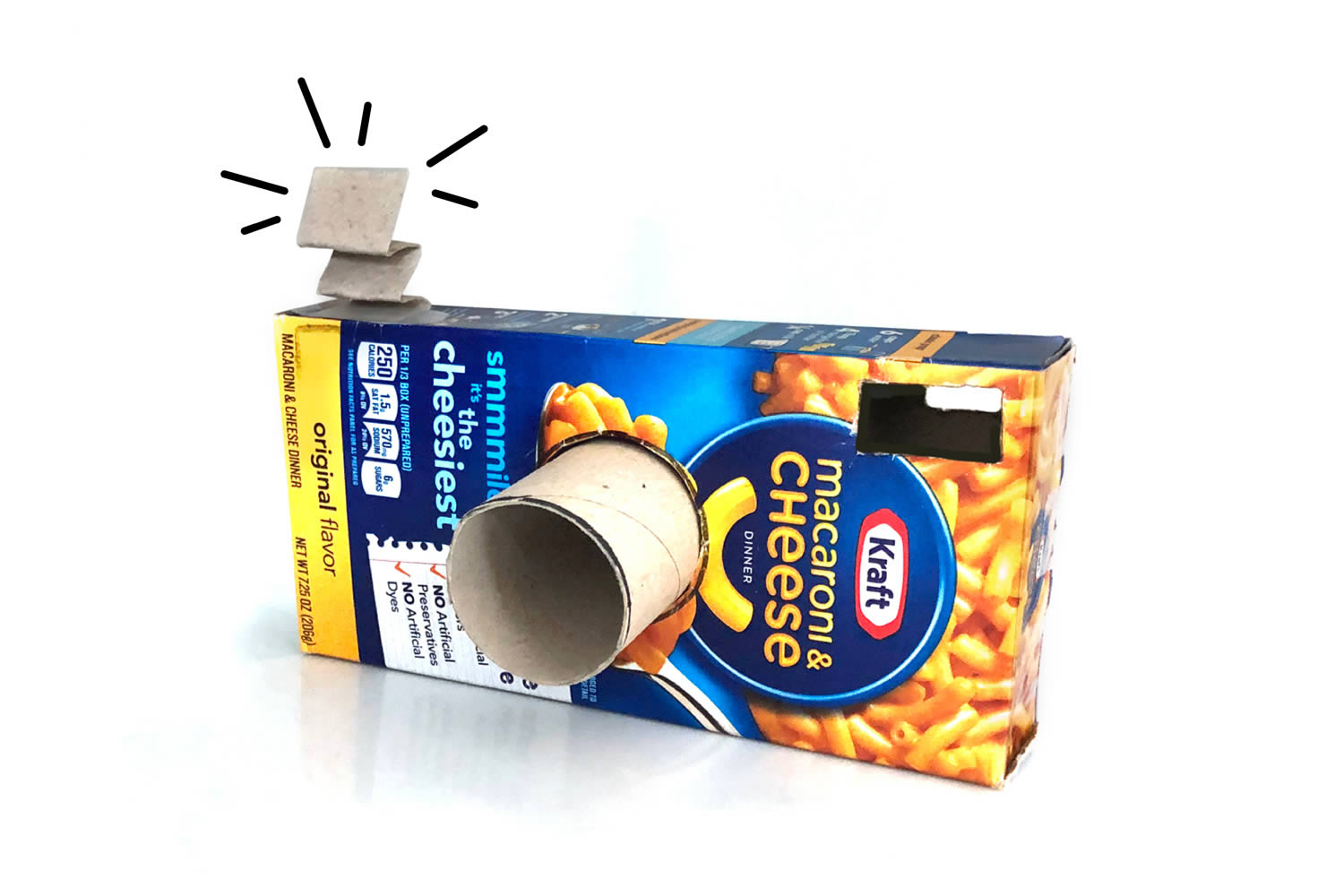 Mac and Cheese Box Camera