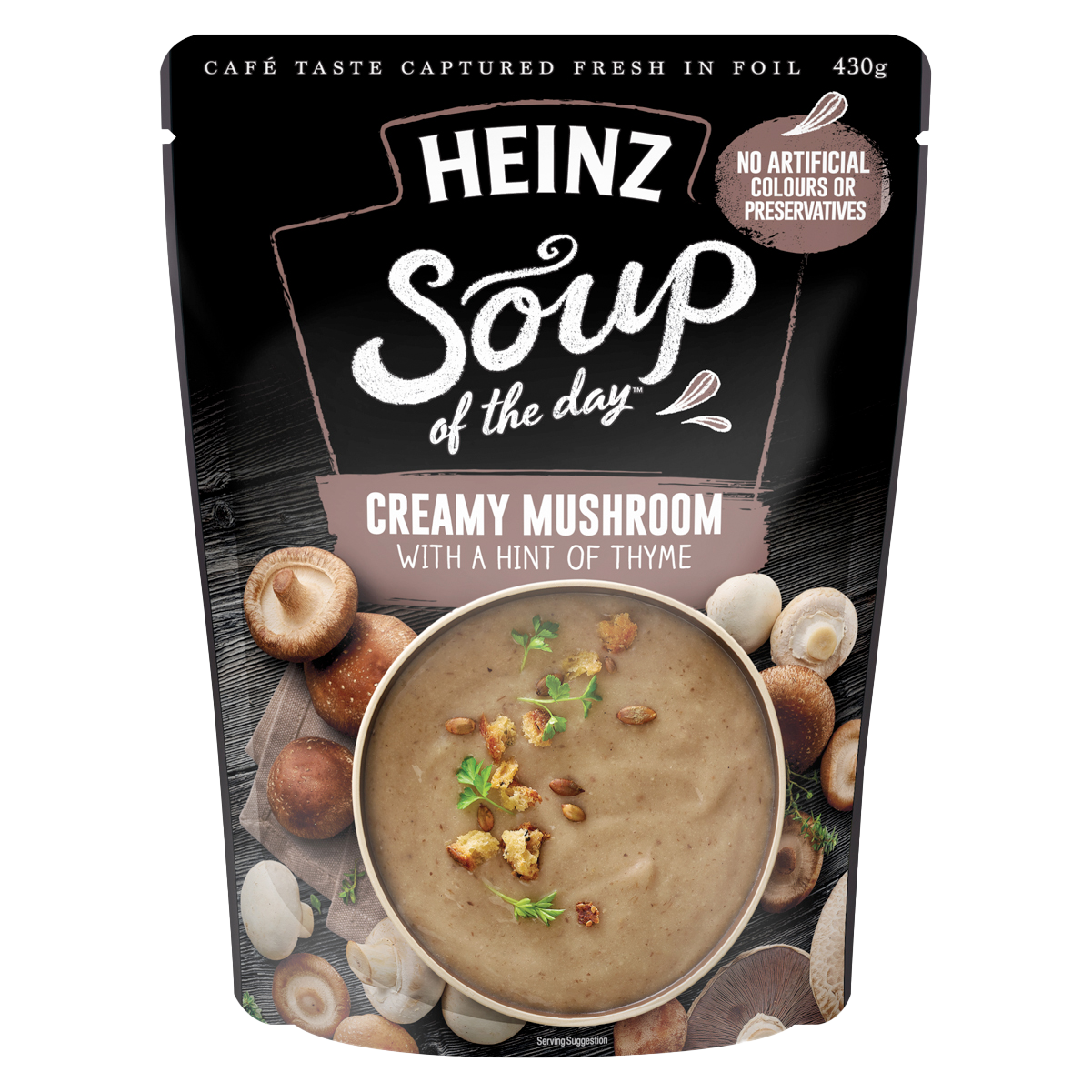 Heinz Soup of the Day Creamy Mushroom with a hint of Thyme