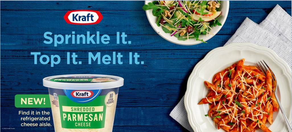 Kraft Refrigerated Shredded Parmesan Cheese 5 oz Tub