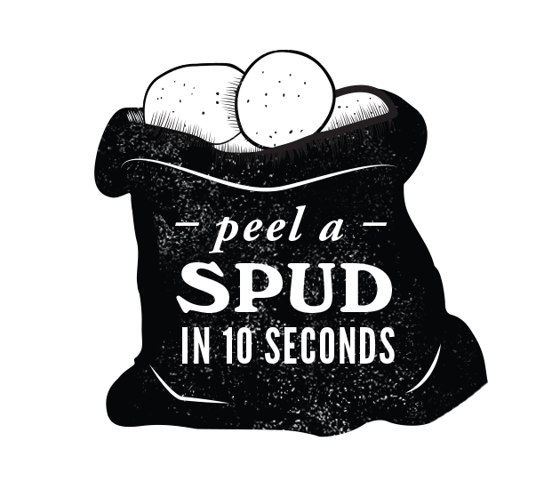 Peel a spud in less than 10 secs