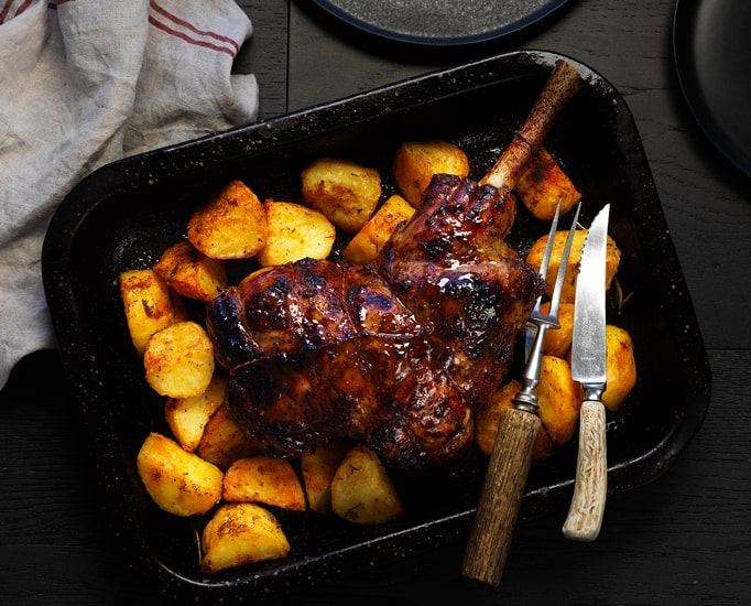Lamb Leg with Roast Potatoes