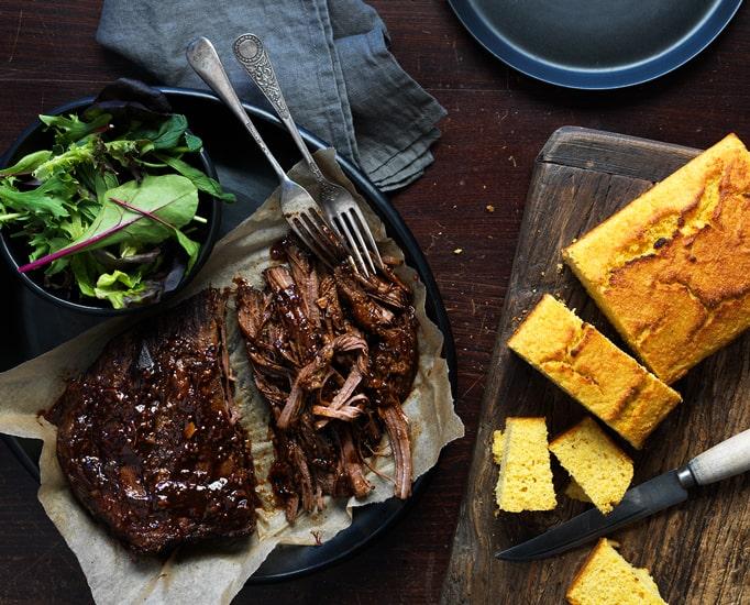 Slow Braised Beef & Cornbread