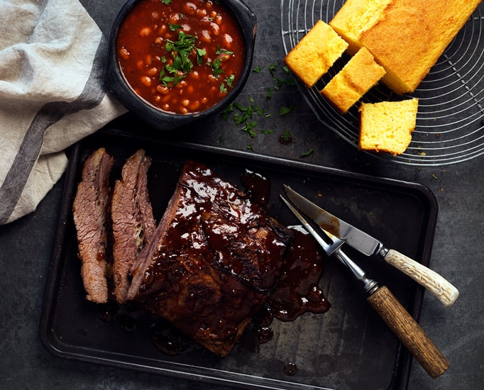 Texan Beef Brisket with BBQ Beans