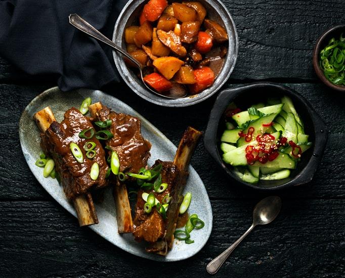 Glazed Korean Beef Short Rib
