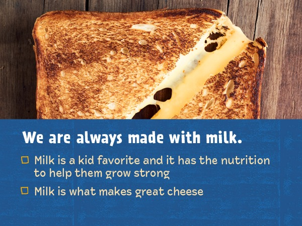 we are always made with milk banner image
