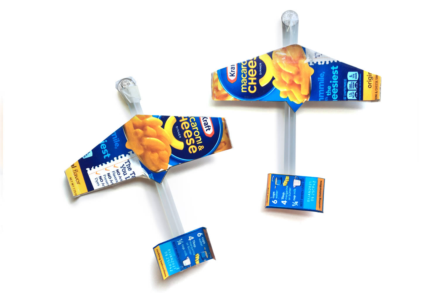 Mac-and-Cheese Box Airplane